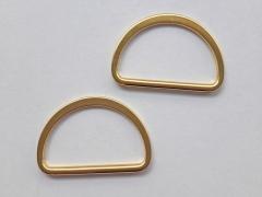 2 D-Ringe Metall goldfarbig, 40 mm
