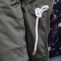 RESTSTÜCK 37 cm Baumwoll Twill Trenchcoat Stoff Stretch, moosgrün