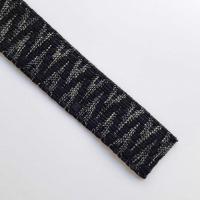 Gurtband Ethno Zickzack Streifen 38mm, khakigrün schwarz
