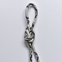 Kordel Schlangenmuster Lederimitat, schwarz weiß
