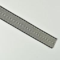 Webband Zickzack Pfeilspitzen 27mm, cremeweiß schwarz
