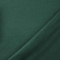 RESTSTÜCK 97 cm Sweatstoff French Terry uni, dunkelgrün