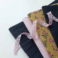 Jerseystoff Blümchen, rosa grüngelb