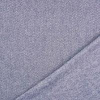 Jacquard Stoff Fischgrätmuster, jeansblau