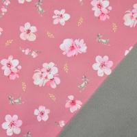 Softshell Stoff Kirschblüten, rosa pink altrosa