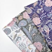 Jerseystoff Paisley Blumen Digitaldruck, altrosa lilablau