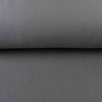 RESTSTÜCK 30 cm Baumwollfleece Stoff uni, dunkelgrau