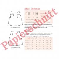 Papierschnittmuster Damen Rock aufgesetzte Taschen FRAU INA Schnittreif
