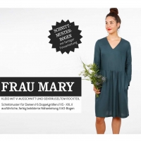 Papierschnittmuster Boho Kleid V-Ausschnit FRAU MARY Schnittreif