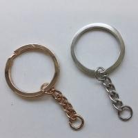 Schlüsselring mit Kette 30mm, gold