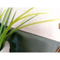 Dekostoff Zweige kleine Blätter Leinen Optik, grün natur