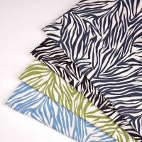 Viskose Leinen Webware Zebra Muster Animal Print, schwarz natur