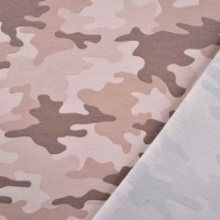 Sweatstoff French Terry Camouflage, rosa altrosa