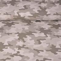 Sweatstoff French Terry Camouflage, beige braun