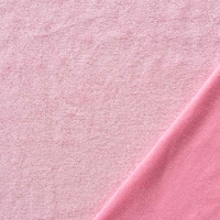 Sweat Frottee Stoff, rosa