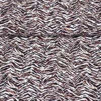Viskose Crepe Animal Print Zebramuster, weiß braun