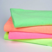 Jerseystoff meliert uni, neon pink