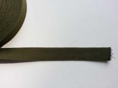 Gurtband Baumwolle 2,5 cm breit, khaki #53