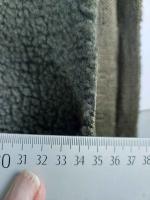 Boucle Stoff Lammfell Optik, khakigrün