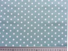 Punkte 0,6 cm, weiß auf dunkelmint
