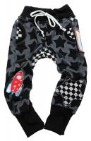 RESTSTÜCK 45 cm Jersey Sterne Staaars Farbenmix, anthracit schwarz