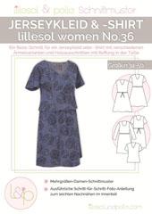 Papierschnittmuster Jerseykleid & Shirt Lillesol women No.36