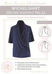 Papierschnittmuster Wickelshirt Lillesol women No.41