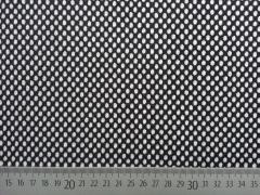 RESTSTÜCK 41 cm Jacquard Jersey Punkte Mirella, schwarz weiss
