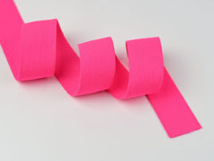 Gummiband Elastic 3 cm breit uni, neonpink