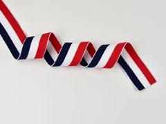 Gummiband Streifen 4 cm breit, dunkelblau weiß rot