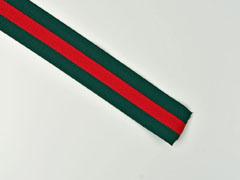 Gummiband Streifen 4 cm breit, grün rot grün