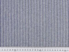 Dekostoff Jacquard Fischgrät, dunkelblau