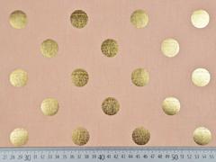 Dekostoff Punkte Gold metallic, apricot