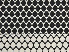 Doubleface Jacquard Rauten, schwarz weiß