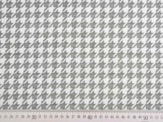 Dralon Teflon Outdoorstoff Hahnentritt, grau