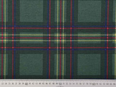 Dekostoff Karo Muster Quadrate, rot blau dunkelgrün