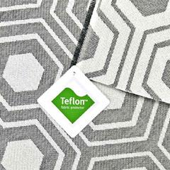 Outdoorstoff Dralon®  Teflon Sechseck, creme schwarz