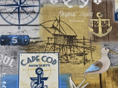 Dekostoff Marine Look Ostküste USA