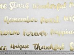 Dekostoff Metallic Words, gold creme