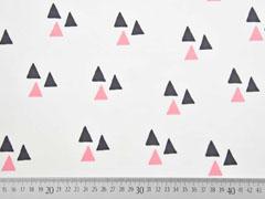 Bio-Jersey Dreiecke Triangles weiß lachsrosa Bloome Copenhagen