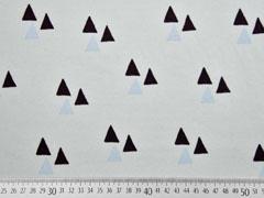 Bio-Jersey Dreiecke Triangles mint grau Bloome Copenhagen