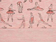 Sweatshirtstoff Ballerina Stenzo, lachsrosa melange