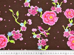 Jersey Stenzo Blumen mit Vögeln, braun
