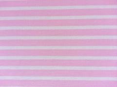 Punta di Roma Jersey Streifen, rosa weiß