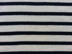 dickerer Feinstrick Streifen, navy cremeweiß
