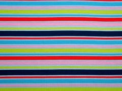Jersey Streifen (Kombistoff Äpfel), bunt/hellblau