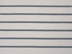 dickere Baumwolle, ecrue mit schwarzen Streifen