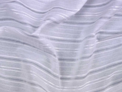 Webware Satinstreifen/transparente Streifen, cremeweiß