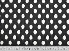 Jacquard leicht elastisch Ovale, cremeweiß schwarz