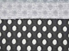 leicht elastischer Jacquard Ovale, weiß schwarzgrau